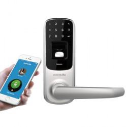Cerradura de puerta con apertura biométrica